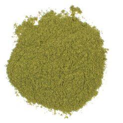 Citroenblad of kaffir limoenblaadjes gemalen